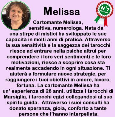 cartomante sensitiva Melissa