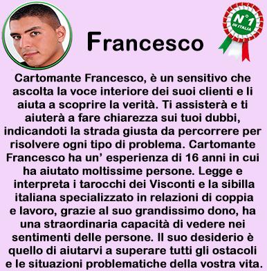 cartomante sensitivo Francesco
